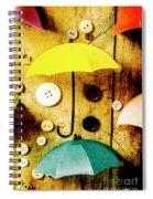 Button Storm Spiral Notebook