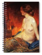By The Fireside 1910 Spiral Notebook
