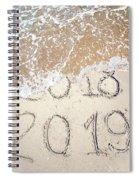 Bye Bye 2018 Welcome2019 Spiral Notebook