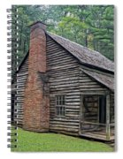 Cabin In The Woods - Fractals Spiral Notebook