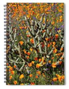 Cactus Poppies And Bluebells Spiral Notebook