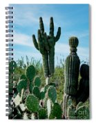Cactus Twins Have Company Spiral Notebook