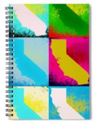 California Pop Art Panels Spiral Notebook