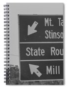 California State Sign Spiral Notebook