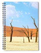 Camel Thorn Trees In Sossusvlei, Namibia Spiral Notebook