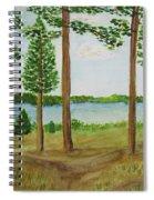 Camping At The Lake Spiral Notebook