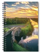 Canal Sunrise Spiral Notebook