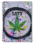 Cannabis With Love Spiral Notebook