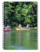 Canoeing On The Rideau Canal In Newboro Channel Ontario Canada Spiral Notebook