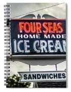 Cape Cod Four Seas Home Made Ice Cream Neon Sign Spiral Notebook