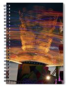 Carnival Rides Motion Blur Spiral Notebook