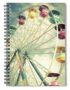 Carolina Beach Ferris Wheel Spiral Notebook