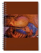 Carved Wood - Eagle Spiral Notebook