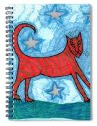 Cat By Starlight Spiral Notebook