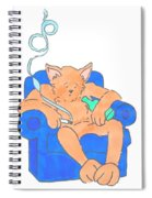 Cat Has Just Lost One Life Has Eight Lives Left Cartoon Spiral Notebook