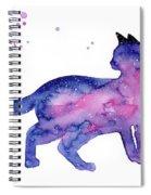 Cat In Space Spiral Notebook
