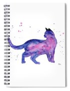Cat In Space Spiral Notebook