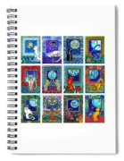 Cat Zodiac Paintings  Spiral Notebook