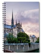 Cathedral Of Notre Dame From The Bridge - Paris France Spiral Notebook