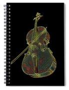 Cello Music Instrument Professional Musician Designed Spiral Notebook