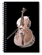Cello String Music Instrument Musician Color Designed Spiral Notebook