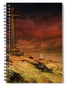 Celtic Cross Llanddwyn Island Spiral Notebook