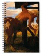 Centaur At The Village Blacksmith Shop 1888 Spiral Notebook