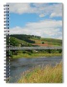 chainbridge over river Tweed at Melrose Spiral Notebook