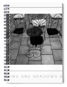 Chairs And Shadows Bw Poster Spiral Notebook