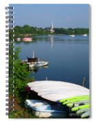 Chambly Basin And The Church Of St Joseph In Quebec Spiral Notebook
