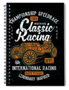 Championship Speed Race Classic Racing Spiral Notebook