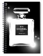 Chanel Lights Bw Spiral Notebook