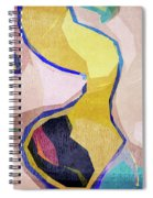 Chaotic Abstract Shapes Spiral Notebook
