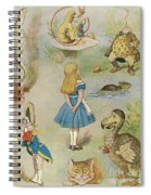 Characters From Alice In Wonderland  Spiral Notebook