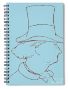 Charles Baudelaire By Edouard Manet Spiral Notebook