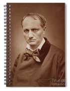 Charles Baudelaire, French Poet, Portrait Photograph  Spiral Notebook