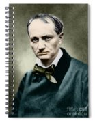 Charles Baudelaire, French Writer, Photo Spiral Notebook