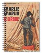Charlie Chaplin Dans Le Cirque - Vintage Advertising Poster Spiral Notebook