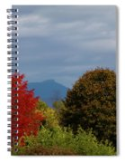 Charlotte Vermont View Of Camels Hump Spiral Notebook