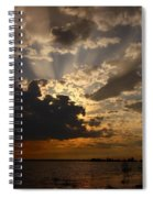 Cheboygan Lakeside Sunset Spiral Notebook