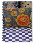 Checkerboard And Pillow Spiral Notebook