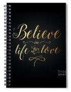 Cher - Believe Gold Foil Spiral Notebook