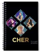 Cher - Blue Diamonds Spiral Notebook