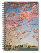 Cherry Blossoms At The Tidal Basin Spiral Notebook