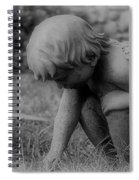 Cherub In The Grass Spiral Notebook