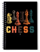 Chess Master Player Pawn Bishop Knight Queen King Graphic Spiral Notebook