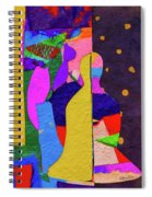 Chiang Mai Buddha Collage 3 Spiral Notebook