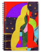 Chiang Mai Buddha Collage 5 Spiral Notebook