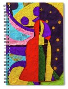 Chiang Mai Collage 12 Spiral Notebook