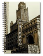 Chicago Cinema Theater - Vintage Photo Art Spiral Notebook